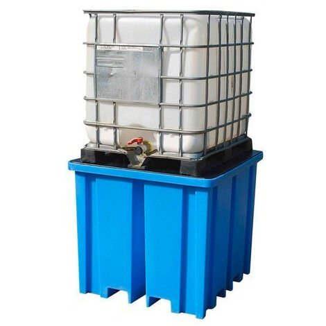 Cubeto de retención alto con rejilla para 1 GRG de 1000 litros