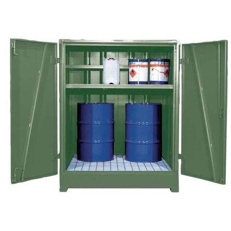 Cubeto de retención cerrado para 4 bidones de 200 litros en vertical