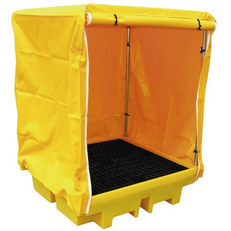 """main image of """"Cubeto de retención con estructura y lona para 4 bidones de 200 litros"""""""