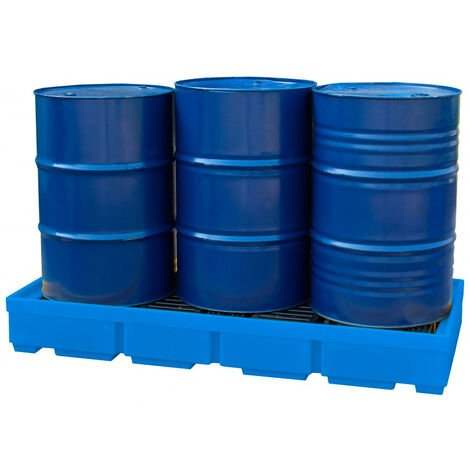Cubeto de retención para 3 Bidones de 200 litros