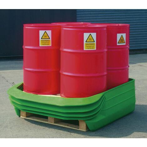 Cubeto flexible extra resistente para 4 bidones de 200 litros