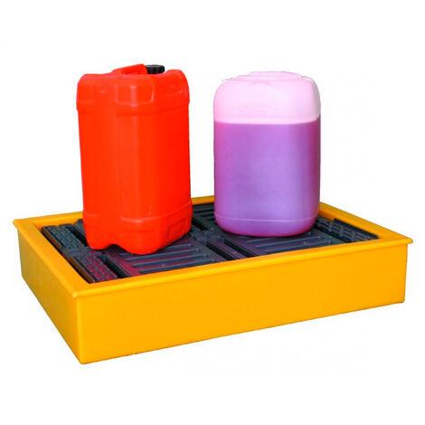 Cubeto retenedor para 4 Bidones de 25 litros y diversos envases