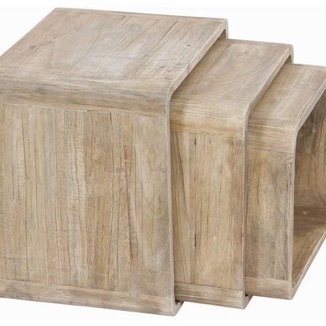 Cubi In Legno.Cubi Legno Di Mindi 3 Pcs Pure Life Collezione By Craftenwood Bigbuy