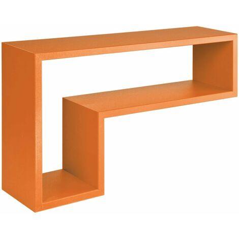 Mensole da muro mensola a cubo lettera l parete for Cubi in legno arredamento