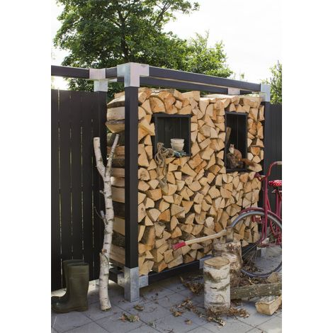 CUBIC Kaminholz-Regal 206x188x50 cm / druckimprägniert