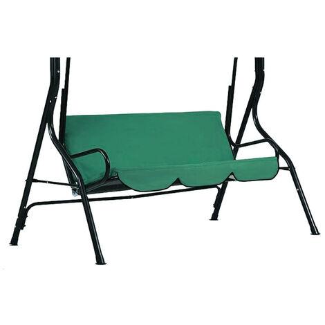 Cubierta de asiento de columpio con dosel para hamaca al aire libre Cubierta de silla de columpio de verano impermeable 3 asientos A Solo el asiento