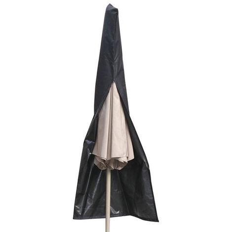 Cubierta de cremallera para sombrilla de patio Fundas de sombrilla impermeables resistentes a los rayos UV Se adapta a sombrillas de mercado al aire libre Cubierta de sombrilla exterior, L