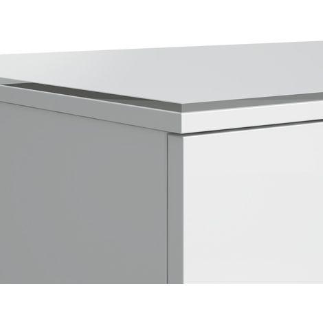 Cubierta de cristal Laufen Kartell, opcional, cristal de seguridad, 460x440, parte inferior barnizada, color: Blanco brillante - H4075300336311