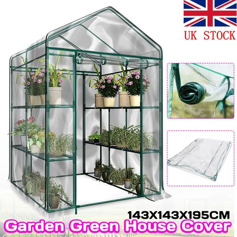 Cubierta de invernadero Protección vegetal PVC Jardín transparente Invernadero Anti Hielo Hielo Anti Insecto Roedor Caso