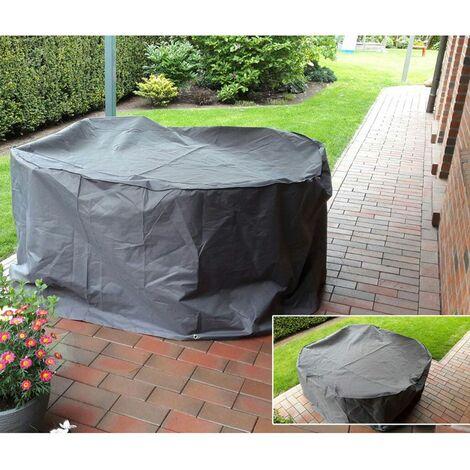 Cubierta de lona alquitranada de cubrimiento mesa de apilado muebles de jardín que cubre capota impermeable DAÑOS 504723