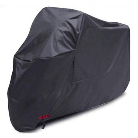 Cubierta de motocicleta Oxford tela, negro, 265 * 105 * 125 cm