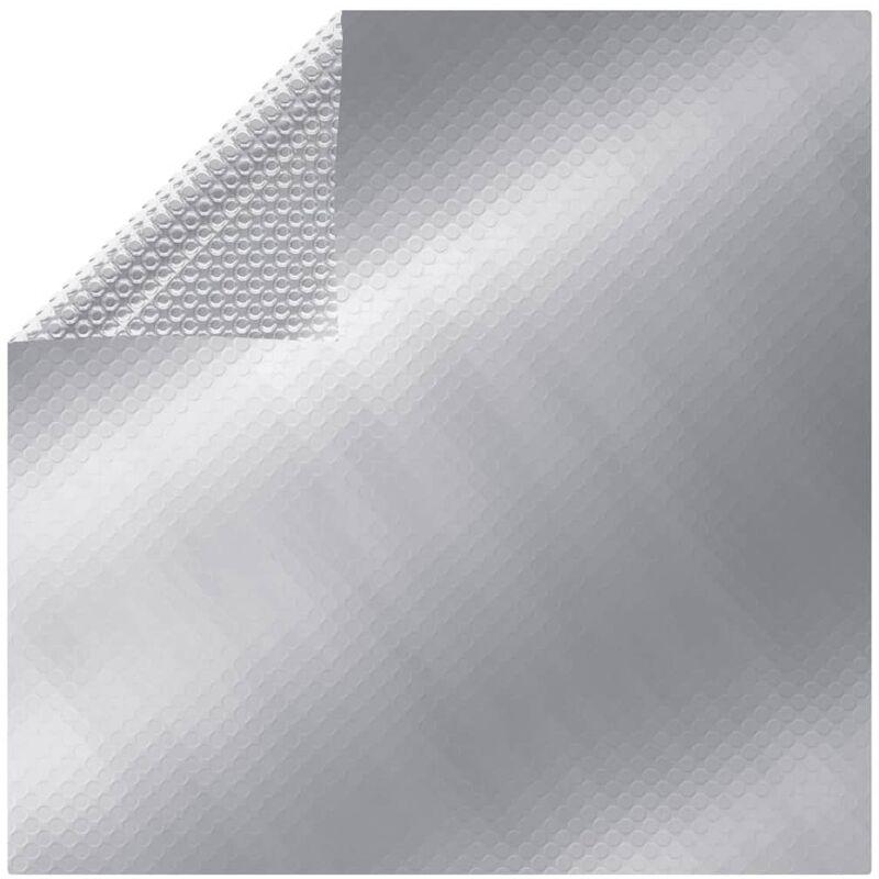 vidaXL Cubierta de piscina PE plateado 450x220 cm - Plateado
