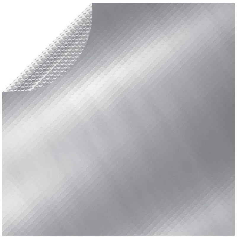 Cubierta de piscina PE plateado 549 cm - Plateado
