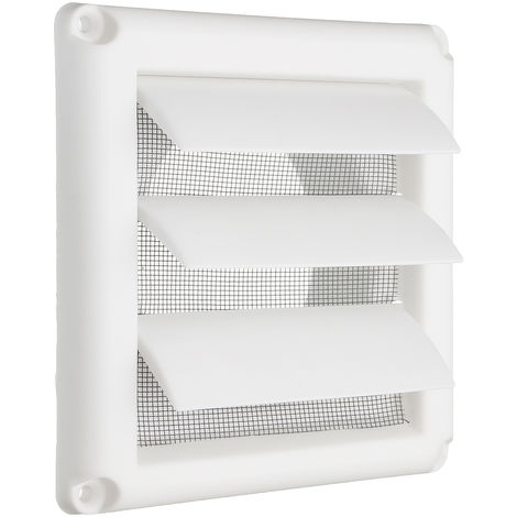 Cubierta de rejilla de aire de plástico Rejilla de ventilación de pared con obturador de gravedad 3 Sasicare