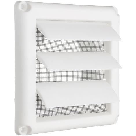 Cubierta de rejilla de ventilación de plástico 3 Rejilla de ventilación de pared con obturador por gravedad con red Hasaki