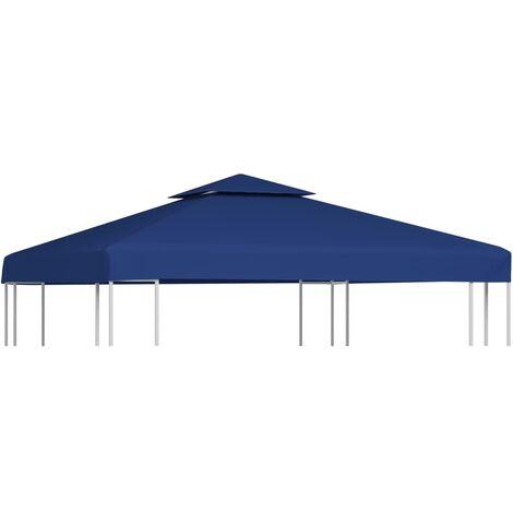 Cubierta de repuesto de cenador 310 g/m² azul oscuro 3x3 m - Azul