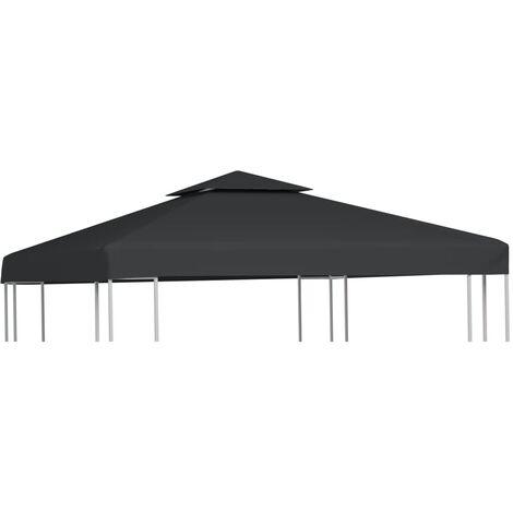 Cubierta de repuesto de cenador 310 g/m² gris oscuro 3x3 m - Gris