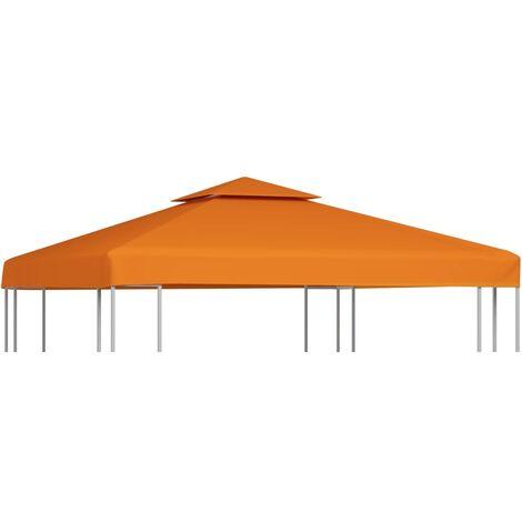 Cubierta de repuesto de cenador 310 g/m² terracota 3x3 m - Naranja