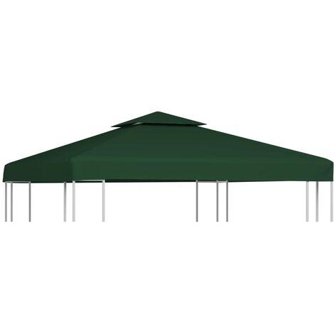 Cubierta de repuesto de cenador 310 g/m² verde 3x3 m - Verde