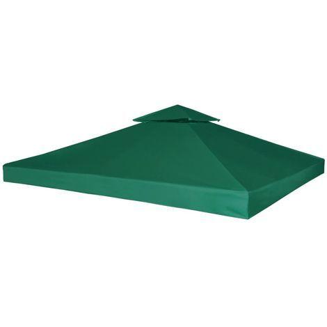 Cubierta de repuesto de cenador 310 g/m2 verde 3x3 m