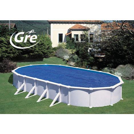 Cubierta isotérmica piscina ovalada Gre