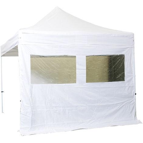 Cubierta lateral 2 ventanas con cortina 3m - poliester 300g / m2 - unidad