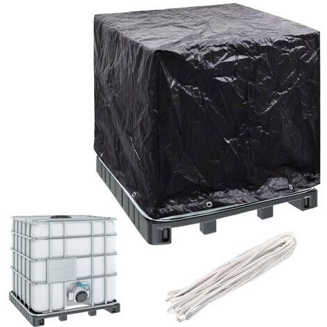 Cubierta para depósito de agua de jardín 8 ojales 116x100x120cm