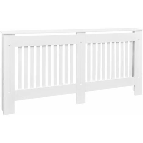 Cubierta para el radiador blanco MDF 172 cm