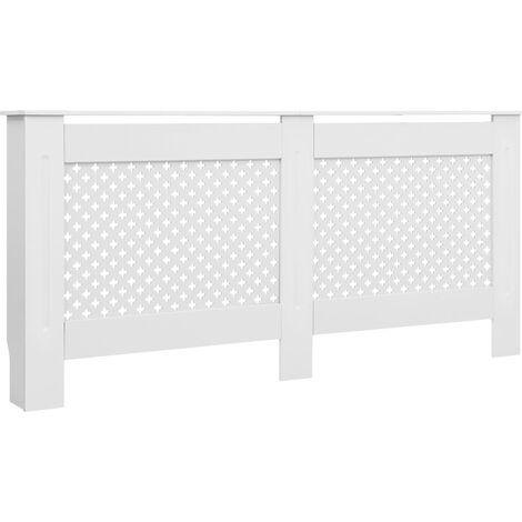 Cubierta para radiador MDF blanco 172x19x81,5 cm