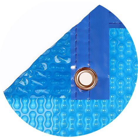 Cubierta piscina verano GeoBubble 400 micras para piscinas de 6 metros de ancho (Con refuerzo en los dos laterales estrechos).