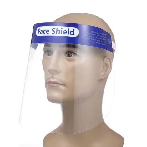 Cubierta protectora de proteccion facial a prueba de polvo, transparente, 10 piezas