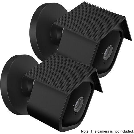 Cubierta protectora de silicona anti-parpadeo mini camara de la bolsa de rayas de proteccion de la camara Accesorios Proteccion Camara De Seguridad, Negro, 2pcs