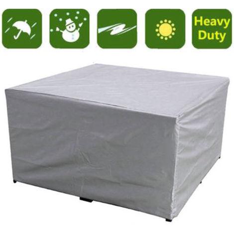 Cubierta Protectora Muebles Mesa Rectangular Impermeable Gris 150X150X75Cm Sasicare