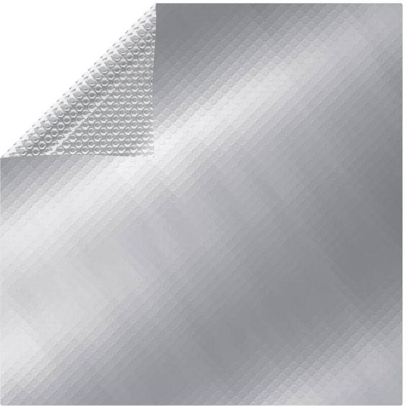 Youthup - Cubierta solar de piscina flotante PE rectangular plata 8x5m - Plateado