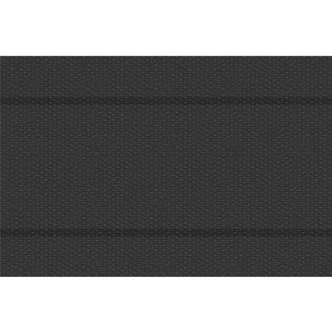 Cubierta solar para piscina negro rectangular - lona para cubrir piscinas, cubre piscinas flotante para cortar a medida, cobertor solar ligero para piscina
