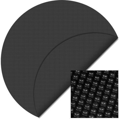 Cubierta solar piscina isotérmica Negra Redonda Ø 5m Lona térmica protectora Cobertor piscina