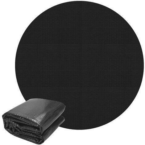 "main image of ""Cubierta solar piscina lona termica lámina funda pool redonda negro 3,6m 140µm"""