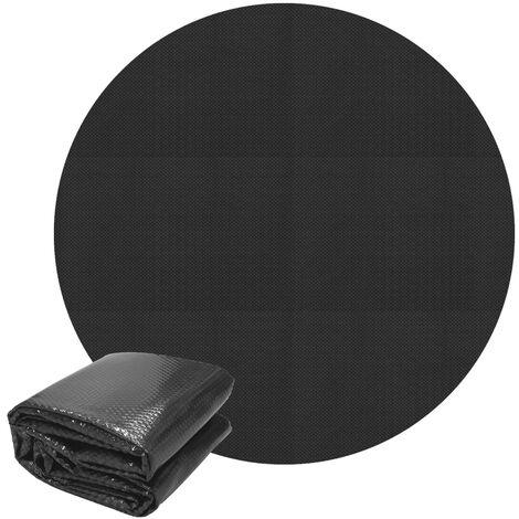 "main image of ""Cubierta solar piscina lona termica lámina funda pool redonda negro 3m 140µm"""