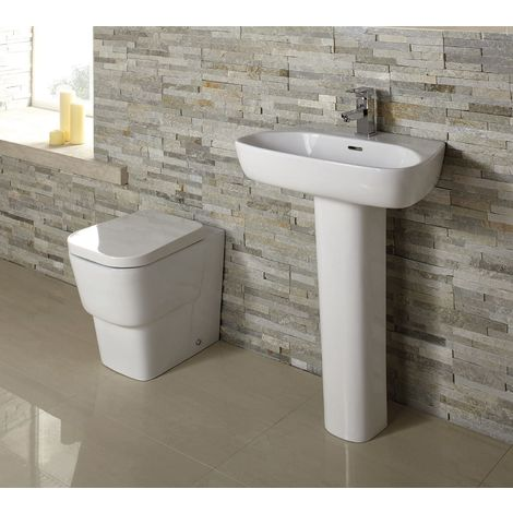 Cubix Back to Wall Toilet with Soft Close Seat