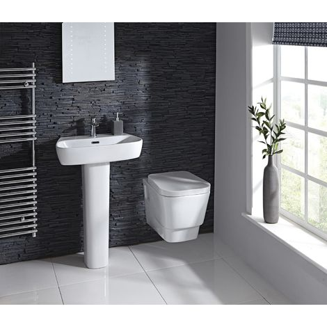 Cubix Square Wall Hung Toilet with Soft Close Seat