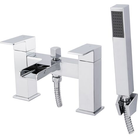 Cubix Waterfall Bath Shower Mixer Tap & Kit