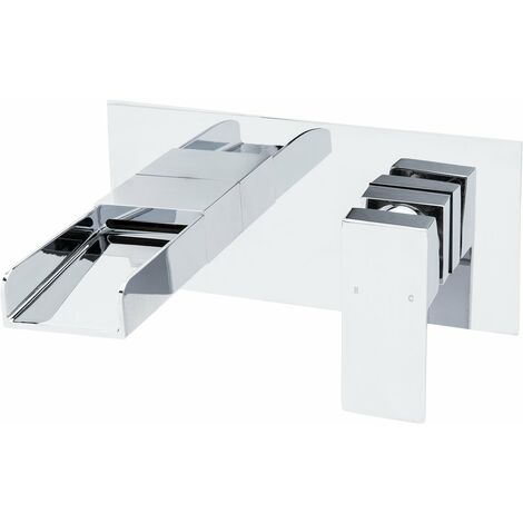 Cubix Waterfall Wall Mounted Basin Mono Tap