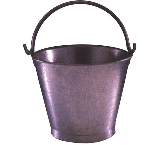 Cubo Agua Conico Galvanizado - 11'' - 8 Litros