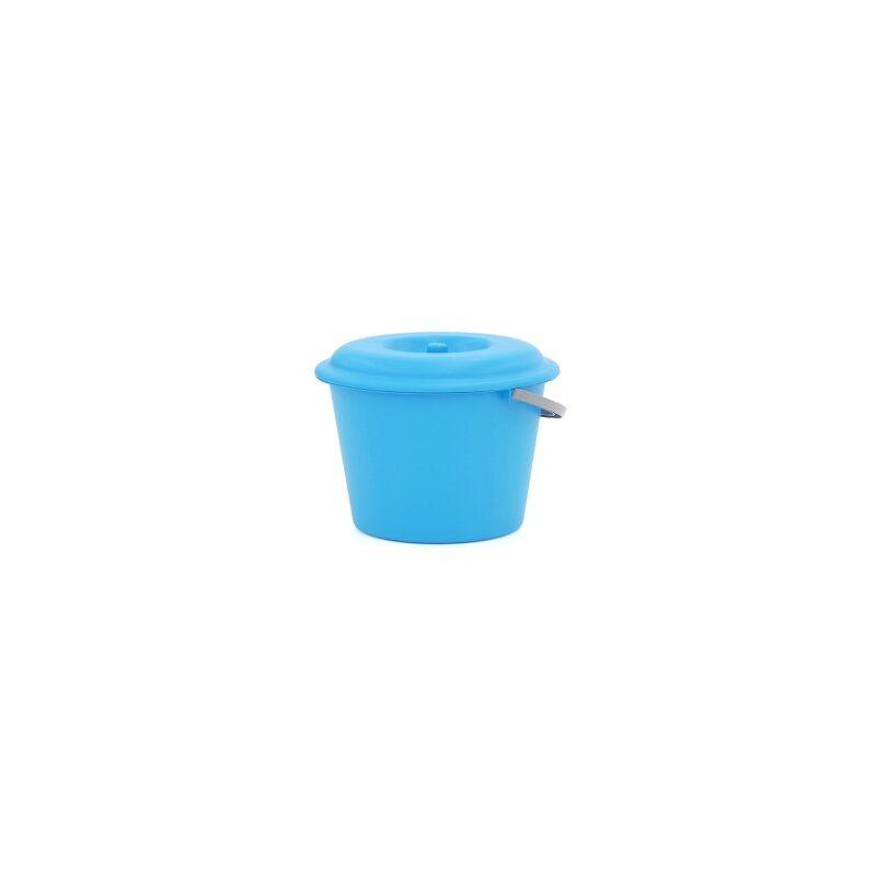 Cubo basura 16l. c/tapa azul - PLASTIKEN