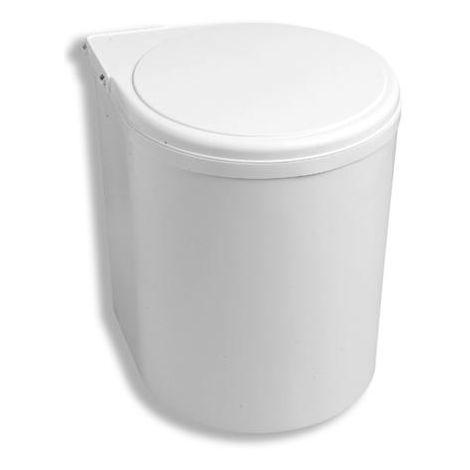cubo basura reciclaje 13l - talla plástico blanco