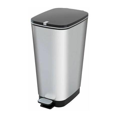 Cubo Chic Bin IML Metalizado KIS cierre pedal tamaño L (50L) Negro