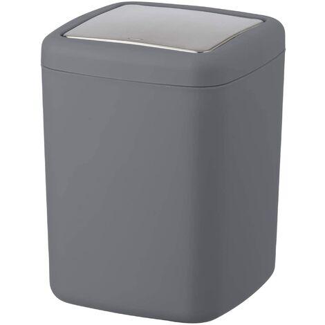 Cubo con tapa abatible Wenko, 3 litros, en color antracita 15 x 20 x 15