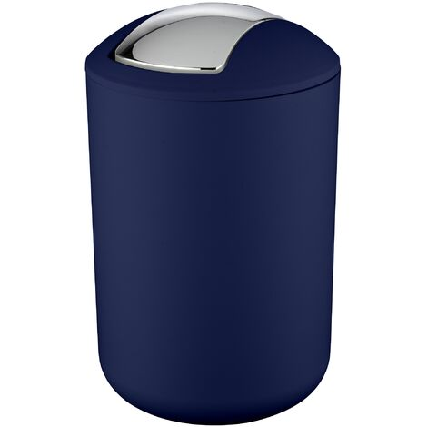 Cubo con tapa oscilante Brasil L azul oscuro WENKO