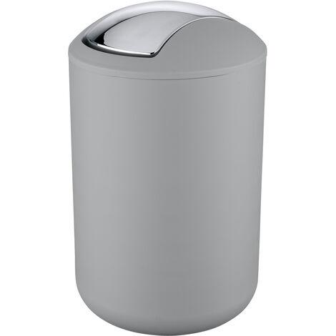 Cubo con tapa oscilante Brasil L gris WENKO