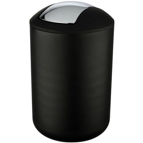 Cubo con tapa oscilante Brasil L negro WENKO
